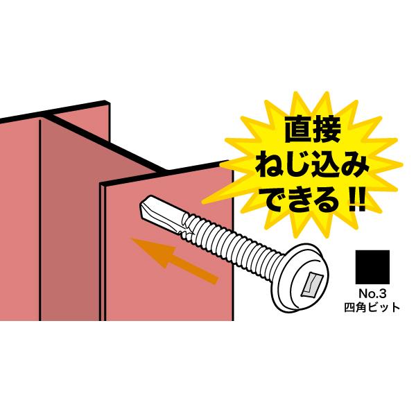 厚鋼板用ネジ(ステンレス・ビット付)