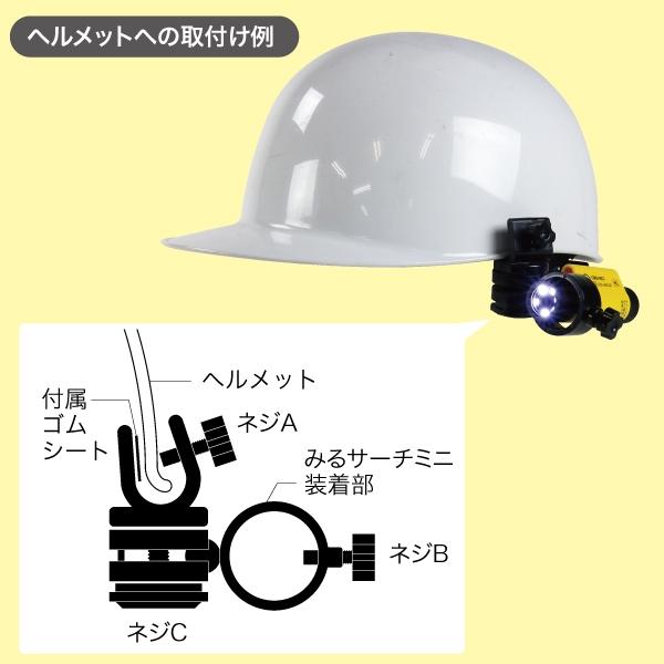 ヘルメットホルダー(みるサーチミニ用)