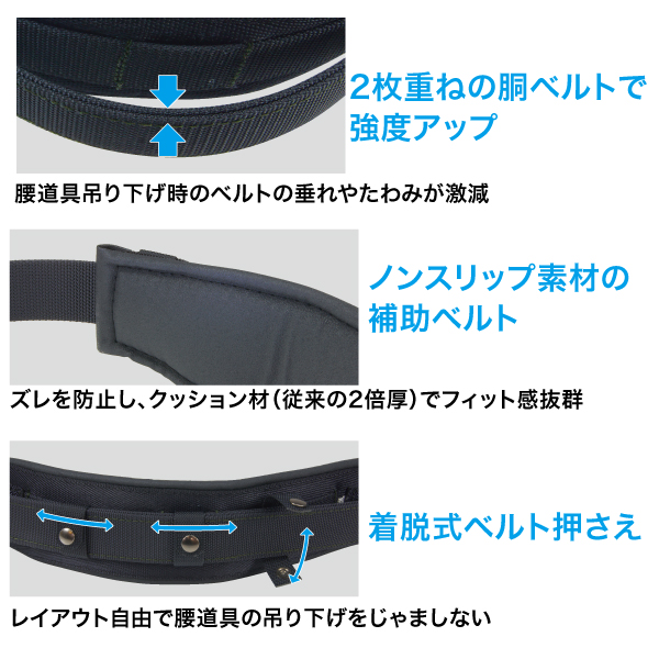 柱上安全帯用ベルトDX カーブタイプ
