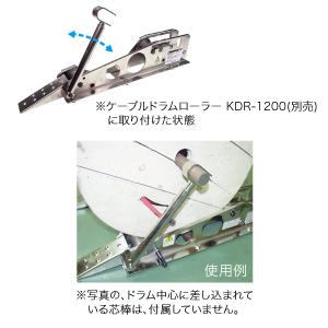 ケーブルドラムローラー用飛び出し防止装置