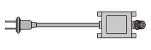 LEDルミネーション(連結タイプ) AC-ACアダプタ