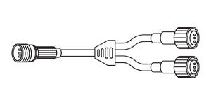 LEDソフトネオン Y型分岐コード