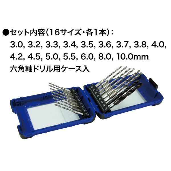 六角軸鉄工ドリルセット